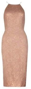 Adrianna Papell Lace Halter Dress