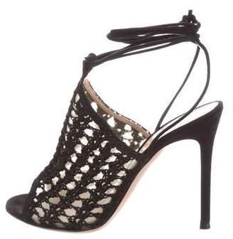 Gianvito Rossi Bardot Crochet Sandals