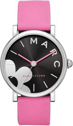 Marc Jacobs Classic Silicone Strap Watch, 36mm