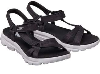 698464b5155 Skechers Womens GOwalk Move River Walk Sandals Black White