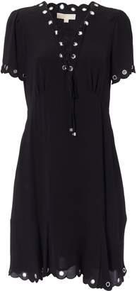 Michael Kors Scalloped Crepe Dress