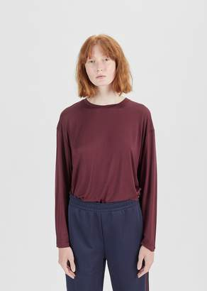 Acne Studios Evira Tencel Long Sleeve Tee Aubergine Purple