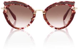 Miu Miu Noir cat-eye sunglasses