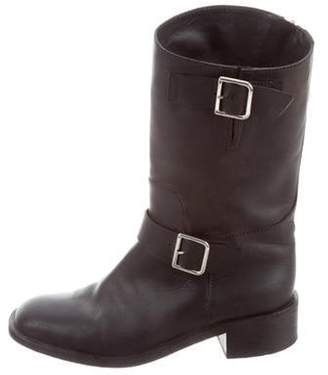 Chanel CC Leather Mid-Calf Boots Black CC Leather Mid-Calf Boots