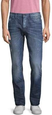 PRPS Distressed Slim-Fit Mid-Rise Jeans