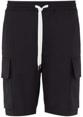 Neil Barrett Relaxed Fit Cargo Shorts - Mens - Black