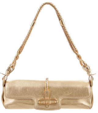 Jimmy Choo Jimmy Choo Metallic Leather Cosmo Bag