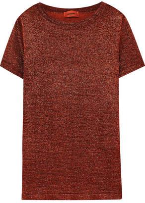 Missoni Metallic Stretch-knit T-shirt - Bronze