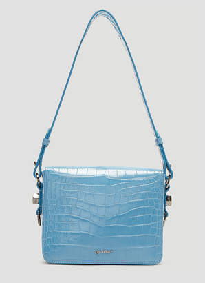 Off-White Off White Cocco Flap Bag in Blue