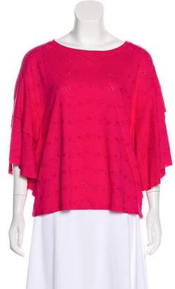Sanctuary Camellia Eyelet-Accented Blouse