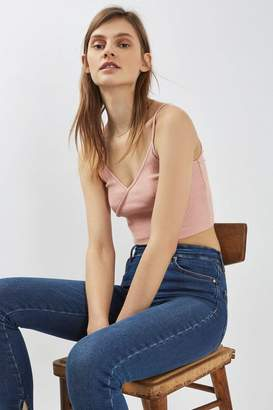 Topshop Wrap Front Crop Top