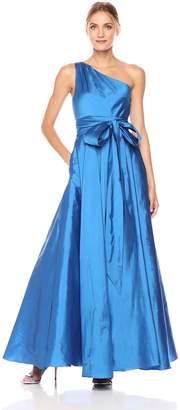 Carmen Marc Valvo Women's One Shoulder Taffeta Gown