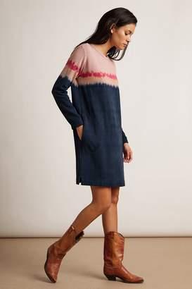 Velvet by Graham & Spencer PRICILLA LUXE FLEECE TIE DYE SWEATSHIRT DRESS