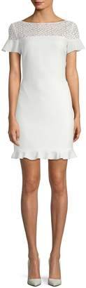 Karl Lagerfeld Women's Emboidered Sheath Dress