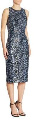 Carmen Marc Valvo Sleeveless Sequin Dress