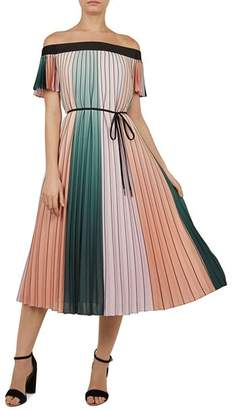 Ted Baker Fernee Pleated Color-Block Dress