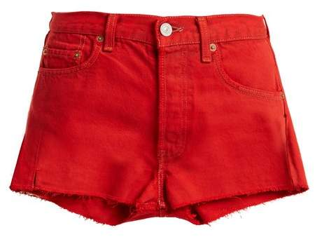 RE/DONE ORIGINALS X Levi raw-hem denim shorts
