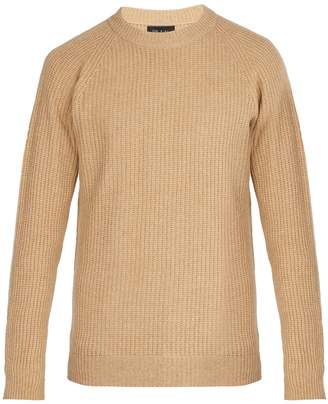 HOWLIN' Crew-neck ribbed-knit wool sweater