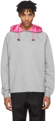 Valentino Grey and Pink Detachable Hood Sweatshirt