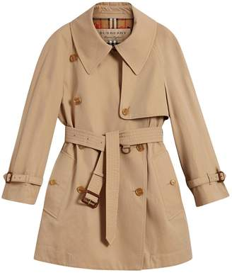 Burberry exaggerated collar cotton gabardine trench coat