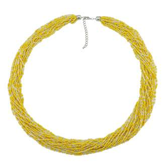 """Bocar Long Multiple Row Handmade Beaded Statement 33"""" Necklace for Women with Gift Box (NK-10235-)"""