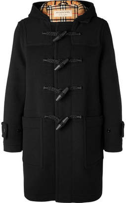 Burberry Hooded Wool-blend Duffle Coat - Black