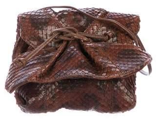 Carlos Falchi Python Butterfly Crossbody Bag