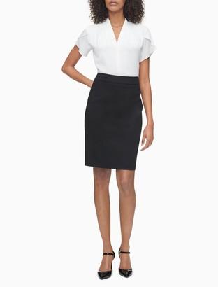 Calvin Klein black pencil suit skirt
