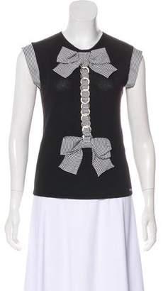 Chanel Cashmere & Silk-Blend Embellished Top