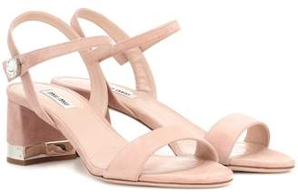 Miu Miu Crystal-embellished suede sandals