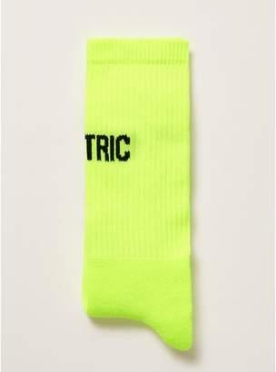 Topman Mens Yellow Neon Electric Tube Socks