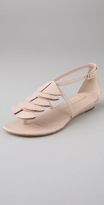 Loeffler Randall Flynn Ruffle Thong Flat Sandals