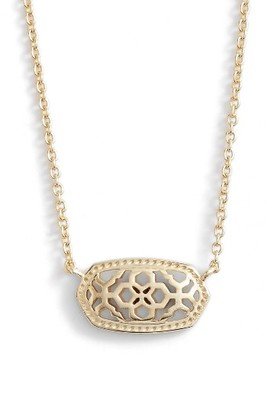 Women's Kendra Scott Elisa Openwork Pendant Necklace $55 thestylecure.com