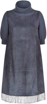Fabiana Filippi Suede Fringe Dress