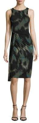 Halston Abstract Knee-Length Dress