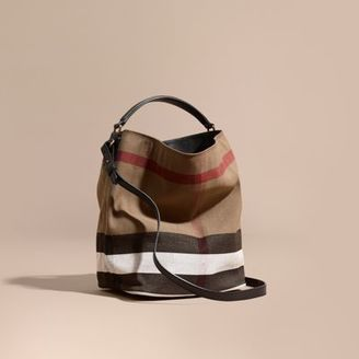 Burberry The Medium Ashby in Canvas Check and Leather $795 thestylecure.com