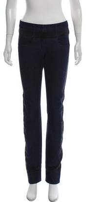 Chanel Satin-Trimmed Mid-Rise Jeans