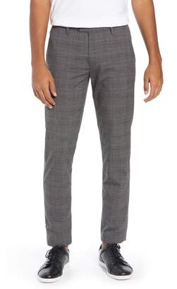 Ted Baker Squared Slim Fit Check Cropped Trousers