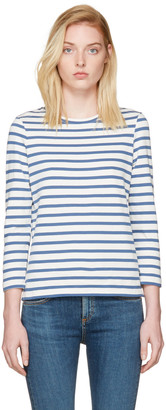 A.P.C. Blue Striped Dream T-Shirt $150 thestylecure.com