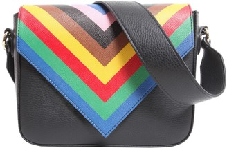Sara Battaglia tripe crossbody bag