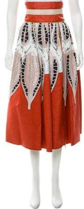 Sophie Theallet Printed Midi Skirt