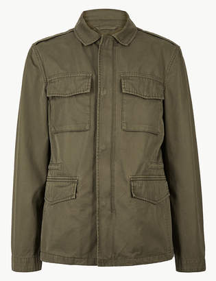d04bc865 Marks and Spencer Pure Cotton Four Pocket Jacket