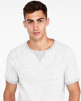 Express Exp Weekend Vintage Fleece Short Sleeve Sweatshirt