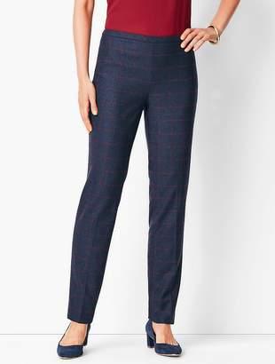Talbots Windowpane Plaid Slim-Leg Pants