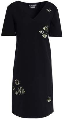 Moschino Embroidered Crepe Mini Dress