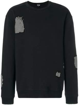 Just Cavalli studded embellished sweatshirt