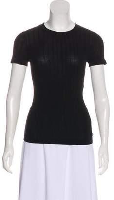 Chanel Crew Neck Short Sleeve Top