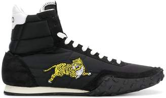 Kenzo hi-top tiger embroidered sneakers