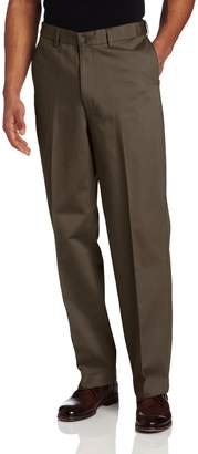 Savane Mens Big & Tall Wrinkle Free Flat Front Twill Pant
