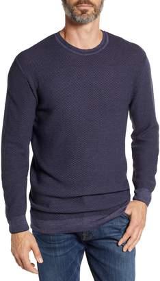 Stone Rose Honeycomb Trim Fit Wool Sweater